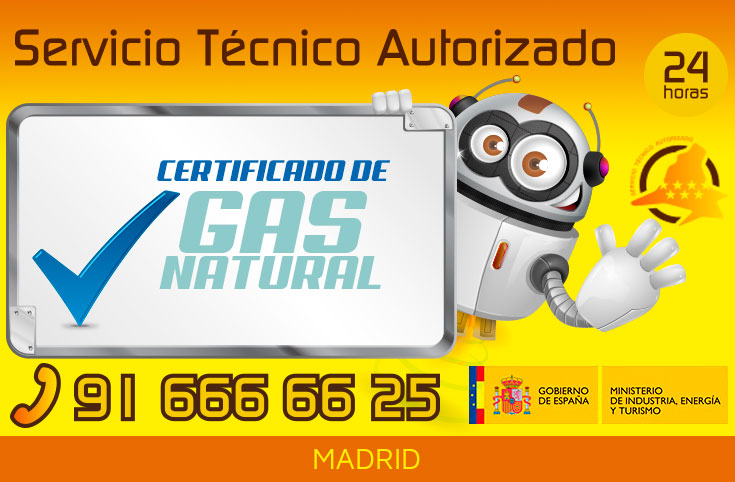 Certificado Gas Natural en Madrid