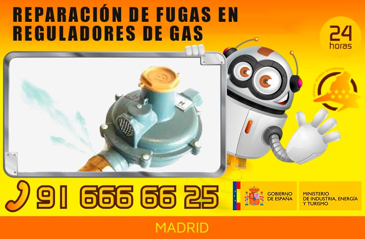 Reparación de fugas en reguladores de gas en Madrid
